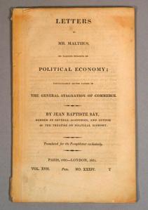 Lettres à Malthus
