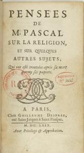 Pensées - Pascal