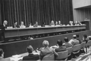 1979 L'ouverture de la Conférence mondiale sur le climat en février 1979