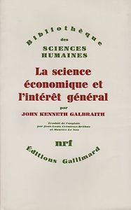 La science économique et l'intérêt général