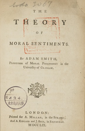 """essay on the theory of moral sentiments David hume, essays moral, political, and literary eugene f miller, ed  adam  smith, theory of moral sentiments part vii, sec ii, ch 46-14 """"letters to the."""
