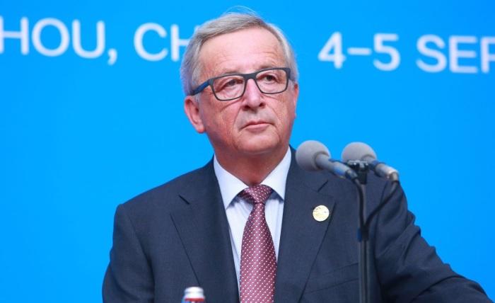 Chủ tịch Ủy ban châu Âu Jean-Claude Juncker tại hội nghị G20 ở Hàng Châu (tỉnh Chiết Giang, Trung Quốc), ngày 04 tháng 9, năm 2016. (Ảnh: Stringer / Imaginechina / via AFP)